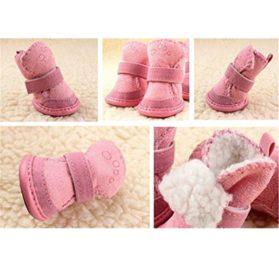 Malloom Dog Cute Fancy Dress Up Pet Dog Chihuahua Boots Puppy Winter Shoes Waterproof Anti-Slip 2