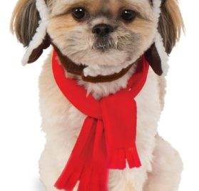 Rubies Costume Company 580222_S-M Pet Aviator Hat and Scarf Set, Small-Medium