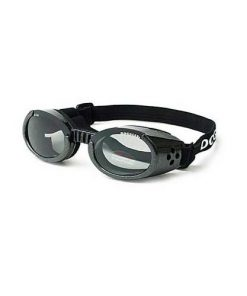 Doggles ILS Extra Small Metallic Black Frame and Smoke Lens