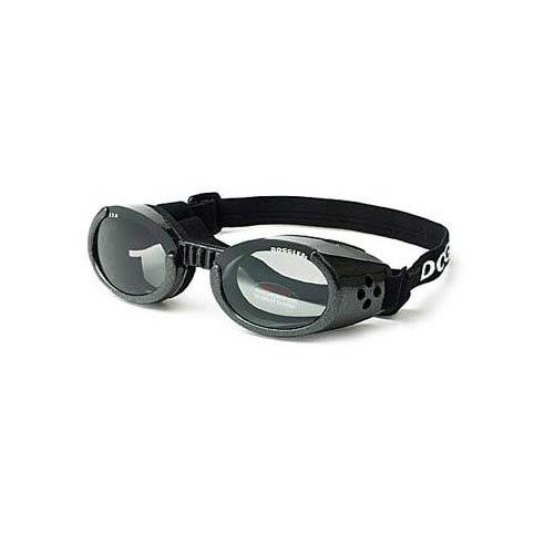 Doggles ILS Extra Small Metallic Black Frame and Smoke Lens