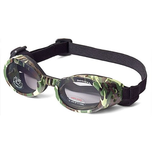 Doggles ILS X-Small Green Camo Frame and Smoke Lens
