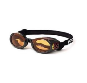 Doggles ILS X-Small Racing Flames Frame and Orange Lens
