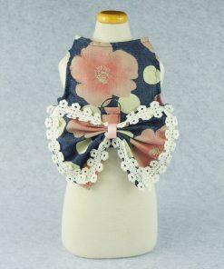Fitwarm Stylish Floral Pet Dog Dress Harness Vest Shirts D ring Clothes, Blue 2