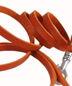 4 Genuine Leather Classic Dog Leash 3-8 Wide 2