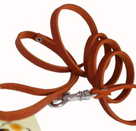 4 Genuine Leather Classic Dog Leash 3-8 Wide