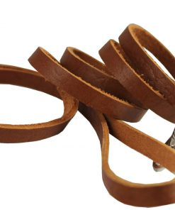 4 Genuine Leather Classic Dog Leash 3-8 Wide, Puppies, Miniature Poodle, Chihuahua