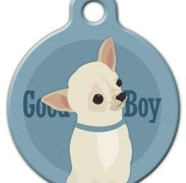 Good Boy - Chihuahua - Custom Pet ID Tag for Dogs and Cats - Dog Tag Art
