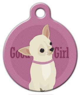 Good Girl - Chihuahua - Custom Pet ID Tag for Dogs and Cats - Dog Tag Art