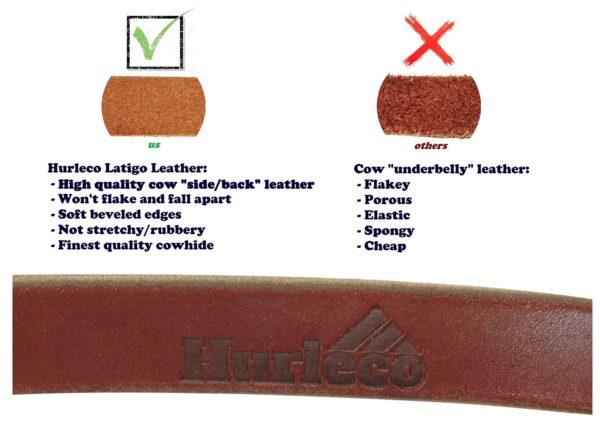 Hurleco Military Grade Leather Dog Training Leash Set - Brown 2