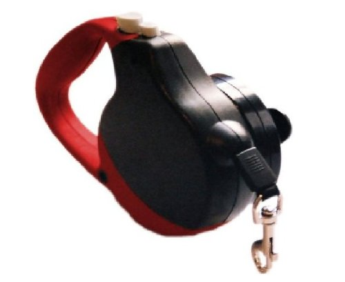 Innovative Pet Products 10-Feet Hip Leash, Standard, Red and Black 2