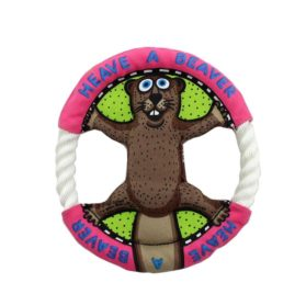 Lovely summer Animal Pattern Frisbee Flying Discs Pet Dog Toy Rope Ring