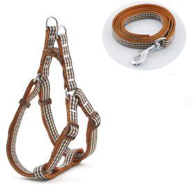 ORVR Dots Pet Leash Harness Set No Pull Dog Collar, Small Dog Harness, Chihuahua, Poodle, Pomeranian, Miniature Schnauzer