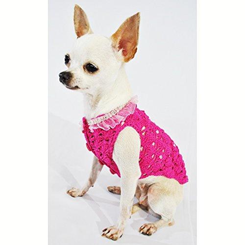 Pink Dog Clothes Fancy Pet Apparel Crystal Fashion Designer