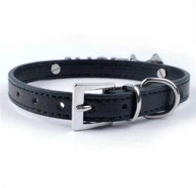 Didog Personalized Soft PU Leather Small Dog Collars with Customized Crystal Rhinestones Name & Charms 2
