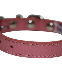 Leather Dog Collar, Padded, 10 x 1-2, Pink, 100% Genuine Leather (Alpine) Yorkie, Chihuahua, Tea Cup