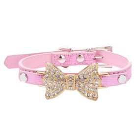 Lillypet(TM) Bling Rhinestone Pet Cat Dog Bow Tie Collar Necklace Jewelry for Small or Medium Dogs