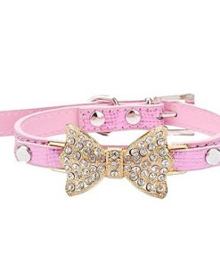 PANPET Bling Rhinestone Pet Cat Dog Bow Tie Collar Necklace Jewelry for Small or Medium Dogs