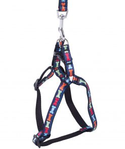 PUPTECK No Pull Classic Solid Dog Harness Training Walking Adjustable with Leash Polyester Nylon