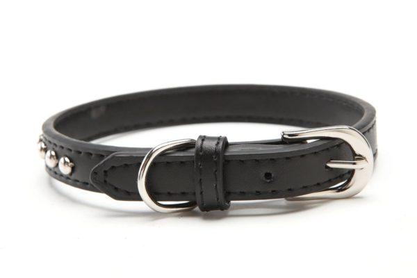 BINGPET BA2006 Real Split Leather Studded Pet Dog Collar 2