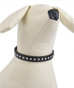 BINGPET BA2006 Real Split Leather Studded Pet Dog Collar 3