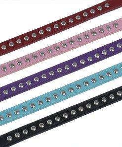 BINGPET BA2006 Real Split Leather Studded Pet Dog Collar 6