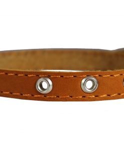 Real Leather Dog Collar 9.5-13 Neck Size, 1-2 Wide Chihuahua, Puppies 2