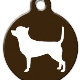Chihuahua Silhouette - Custom Pet ID Tag for Dogs and Cats - Dog Tag Art