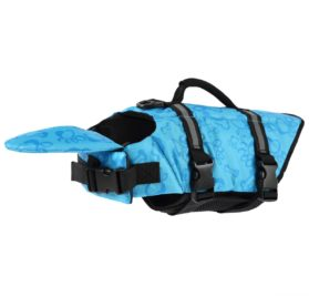 Dog Life Jacket Quick Release Easy-Fit Adjustable Dog Life jackets Blue (XL,L,M,S,XS)---By PetCee
