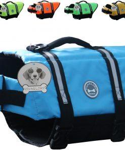 Vivaglory Dog Life Jacket Size Adjustable Dog Lifesaver Safety Reflective Vest Pet Life Preserver