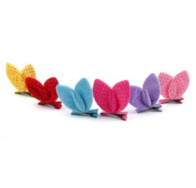 Alfie Pet by Petoga Couture - Becci Bunny Ears Hair Clip 6-Piece Set for Dogs, Cats and Small Animals 2