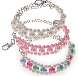 3-Layer-Pearl Pet Necklace (Mulit Color) 2