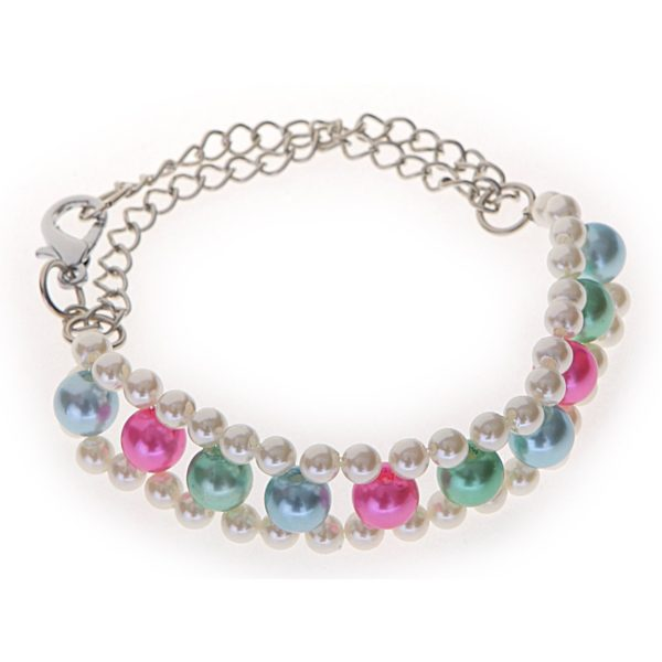3-Layer-Pearl Pet Necklace (Mulit Color)