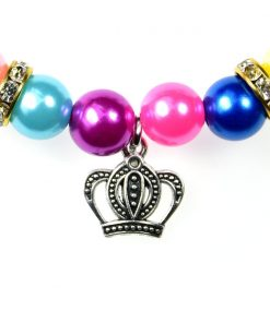 3 Sizes Handmade Cat Dog Necklace Jewelry with Bling Rhinestone Colorful Pearls Gorgeous for Pets Cats Puppy Dogs Puppy Chihuahua Yorkie Girl Costume Outfits 3