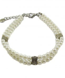 Alfie Couture Designer Pet Jewelry - Nea Double Layer Pearl Necklace for Dogs and Cats 3