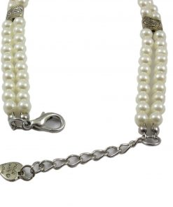 Alfie Couture Designer Pet Jewelry - Nea Double Layer Pearl Necklace for Dogs and Cats 5