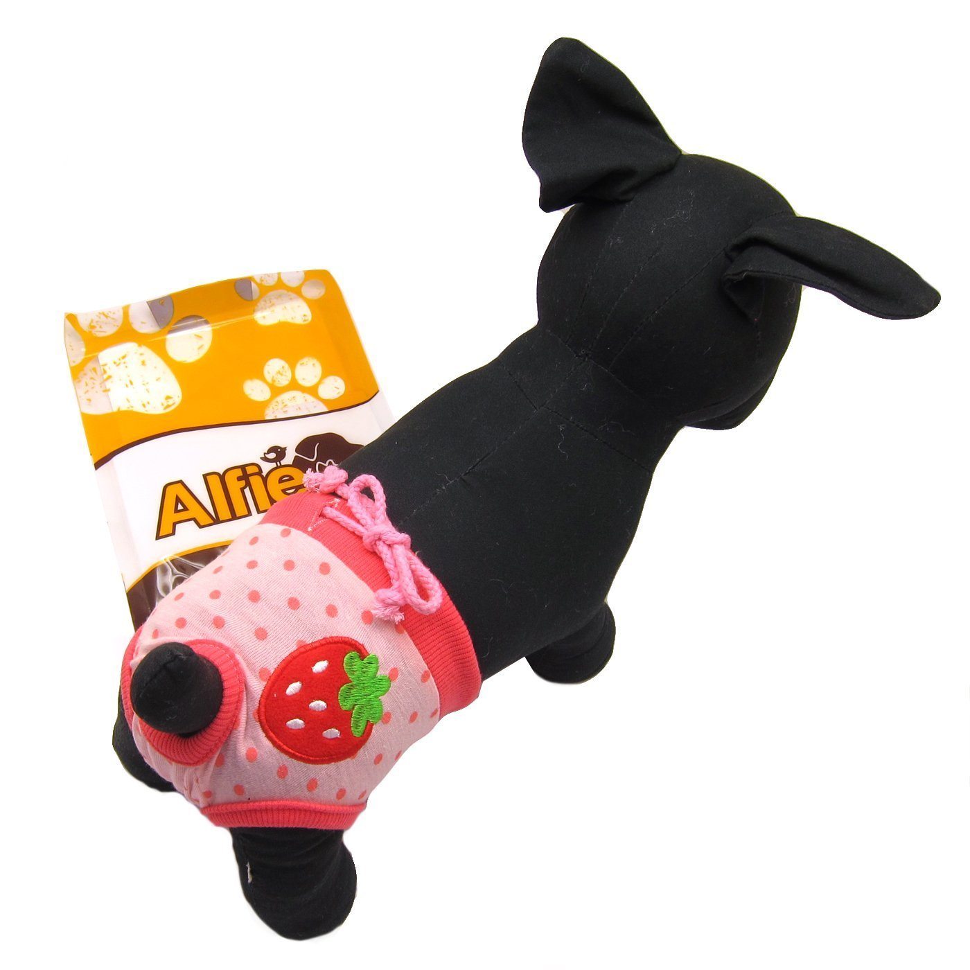 Color: Pink Zoe Diaper Dog Sanitary Pantie for Girl Dogs Alfie Pet Apparel Size: S