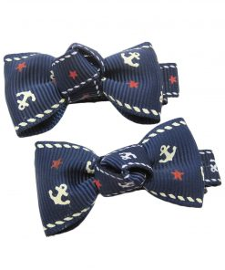 Alfie Pet Apparel by Petoga Couture - Anna Formal Ribbon Bow Necklace with Hair Clips 3-piece Set 4