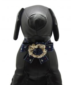 Alfie Pet Apparel by Petoga Couture - Anna Formal Ribbon Bow Necklace with Hair Clips 3-piece Set 5
