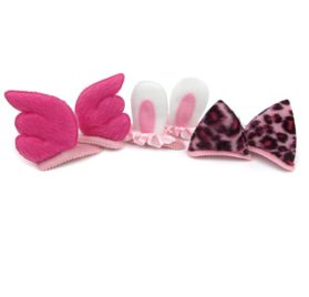 Alfie Pet by Petoga Couture - Alexandra Hair Clip 3-Piece Set for Dogs, Cats and Small Animals