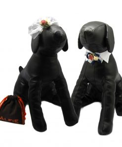 Alfie Pet by Petoga Couture - Dave Bow Tie Collar for Groom and Bridal Wedding Hair Clip Set with Fabric Storage Bag
