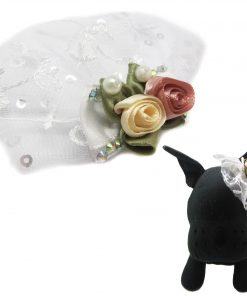 Alfie Pet by Petoga Couture - Dave Bow Tie Collar for Groom and Bridal Wedding Hair Clip Set with Fabric Storage Bag 6