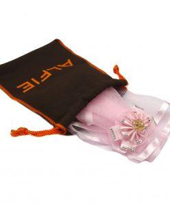Alfie Pet by Petoga Couture - Khloe Bridal Wedding Clip Veil with Fabric Storage Bag 2