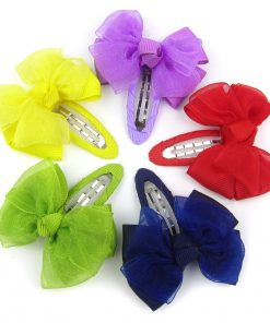 Alfie Pet by Petoga Couture - Lindsey Bow Hair Clip 5-Piece Set for Dogs, Cats and Small Animals