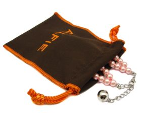 Alfie Pet by Petoga Couture - Lizbeth Double Layer Pearl Necklace for Dogs and Cats with Fabric Storage Bag 2