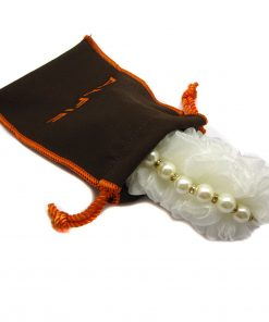 Alfie Pet by Petoga Couture - Meisie Ruffle Pearl Necklace for Dogs and Cats with Fabric Storage Bag 2