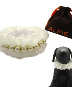 Alfie Pet by Petoga Couture - Meisie Ruffle Pearl Necklace for Dogs and Cats with Fabric Storage Bag