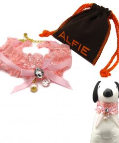 Alfie Pet by Petoga Couture - Tania Lace Necklace for Dogs and Cats with Fabric Storage Bag