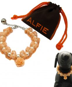 Alfie Pet by Petoga Couture - Wincy Pearl Lace Necklace for Dogs and Cats with Fabric Storage Bag