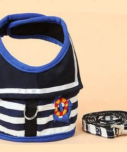 BWSC New Sailor Dog Harnesses And Lead Set For Chihuahua Doggie and Puppy Blue Colour 2