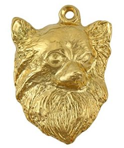 Chihuahua (Longhaired), Millesimal Fineness 999, Dog Necklaces, Limited Edition, Artdog